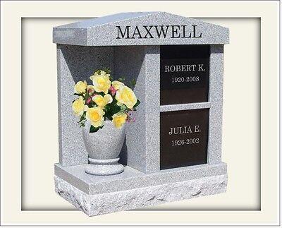 Granite personal estate columbaria 2 niche interment cremation monument