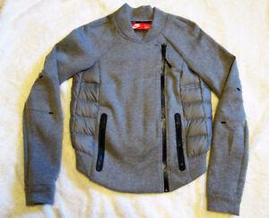 Nike Tech Fleece Aeroloft Moto Bomber Jacket Size XS Gray