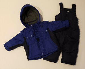 OshKosh B'Gosh Blue Winter Coat & Snow Pants (12 Month)