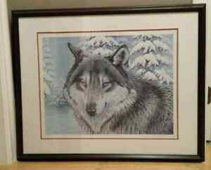 Limited edition Randy Fehr wolf print