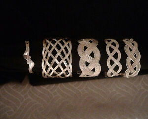 Gold and silver plated brand new bracelets