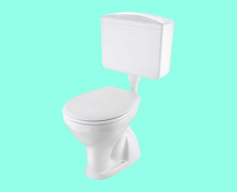 SET Stand-WC Kunststoff-Spülkasten WC-Sitz Befestigung ABGANG INNEN SENKRECHT