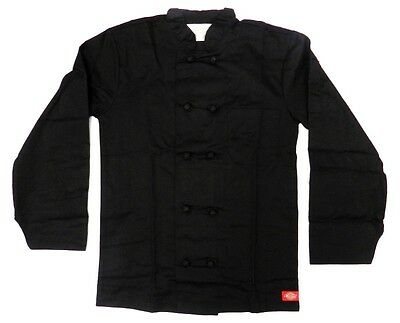 Dickies Chef Coat Jacket Black Cloth Knot Button CW070304A Uniform XS New