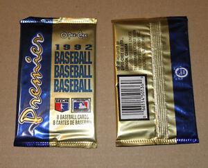 O-Pee-Chee Premier 1992 Baseball Card pack