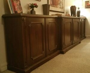 Vintage solid mahogany hand-made Commode/Sideboard