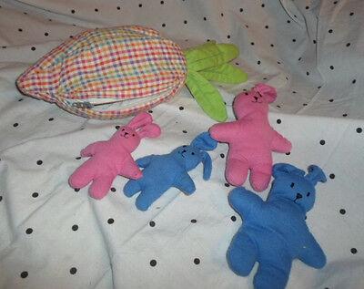 "Carry Along Carrot & Rabbit Family 9"" Plush Soft Toy Stuffed Animal"