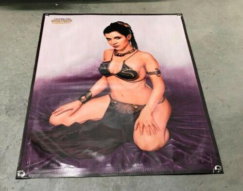 Star Wars Princess Leia poster banner movie sign Jabba the Hutt slave figure 07B