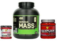 Optimum Nutrition Serious Mass, Creatine & BSN No-Xplode Deal