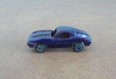 Vintage Tootsie Toy Metal Sports Car Dark Purple Color Very Good Condition