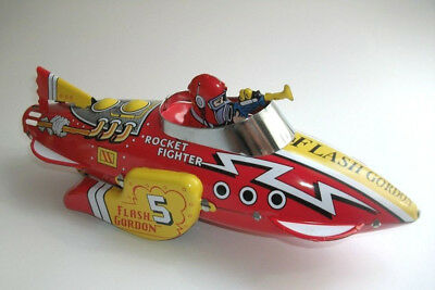 Flash Gordon Rocket Fighter Ship Schylling Blechspielzeug science fiction space