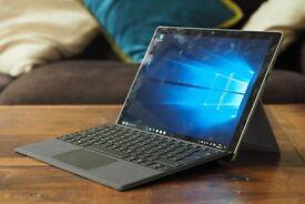 MICROSOFT Surface Pro - 128 GB + Surface Pro Typecover - Alcantara Platinum + Surface Pen - Platinum