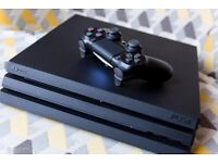 PS4 pro & two controllers. £250