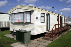 A very comfortable 8 berth holiday caravan in Chapel St Leonards, close to the beach.