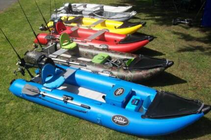 Nifty Boat - Inflatable Fishing Kayak rated for 3.5hp outboard Melbourne CBD Melbourne City Preview