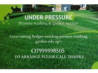 Garden tidy and pressure washing services