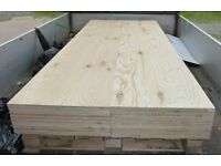 25 Pieces of NEW 18mm Premium Quality Pine Exterior Plywood 8ft x 21in (2440mm x 530mm)