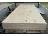 10 Pieces of NEW 18mm Premium Quality Pine Exterior Plywood 8ft x 21in (2440mm x 530mm)