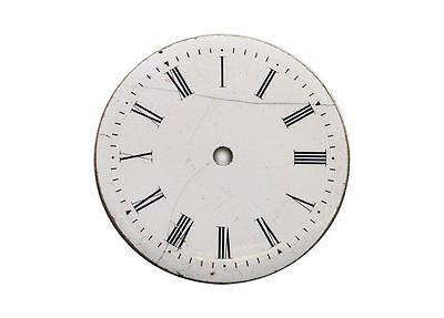 altes emailiertes Zifferblatt Ø 2,7 cm  f. Taschenuhr, Uhr, Frackuhr um 1900