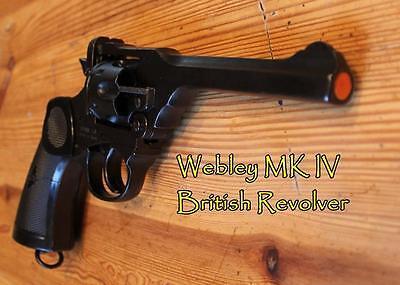 Webley Pistol WWI & WWII Non-Firing Replica, Indianna Jones Prop