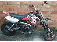 125cc pitbike manual running pit bike thumpstar stomp READ AD swap