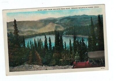 Co Colorado Antique Post Card Echo Lake From Goliath Peak Road Denver Mtn Parks