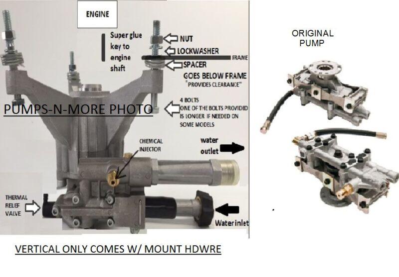 PRESSURE WASHER PUMP KIT EXCELL DEVILBISS VR2500 DELTA DTh2425 RADIAL UPGRADE