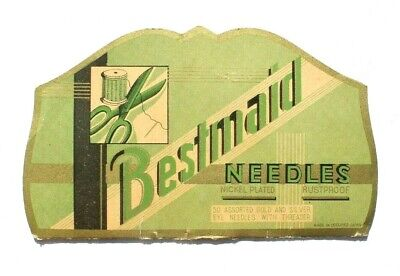 Antique Vtg Needle Book Sample Case Advertising of Bestmaid Needles