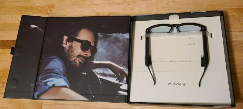 Musiclens Smart Audio Glasses , Style: Vogue , Black , MM1