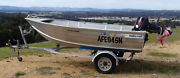 Aluminium boat with 18HP Tohatsu Motor and trailer. Newham Macedon Ranges Preview