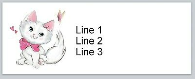 30 Personalized Return Address Labels Cute Cat Buy 3 Get 1 Free P 693