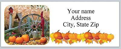 New Halloween Returns (30 Personalized Return Address Labels Fall Halloween Buy 3 get 1 free (bo)