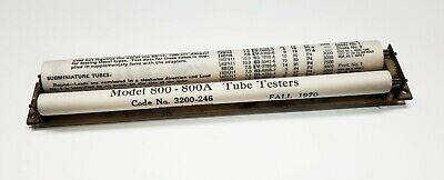 Hickok 800800a Roll Chart With Mechanism And Window 3200-246 Fall 1970