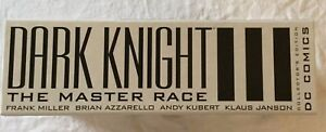 BATMAN DARK KNIGHT MASTER RACE DKIII HARDCOVER SET WITH SLIPCASE