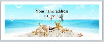 30 Personalized Return Address Labels Scenic Beach Buy 3 Get 1 Free Bo 865