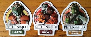 Star Wars: Return Of The Jedi Vintage Embossed Stickers (1983 Fun Products)
