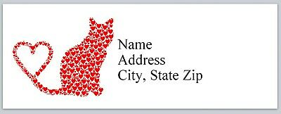 Personalized Address Labels Cat Of Hearts Buy 3 Get 1 Free Bx 738