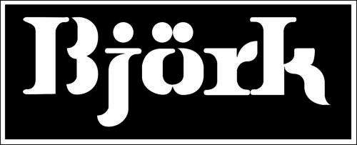 "Bjork Music Logo bumper sticker, wall decor, vinyl decal,  5""x 2"""