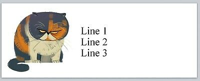 Personalized Address Labels Cute Mean Cat Buy 3 Get 1 Free Jx 218