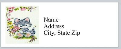 Personalized Address Labels Cute Little Cat Buy 3 Get 1 Free Bx 964