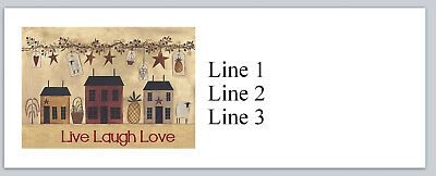 Personalized Address Labels Primitive Country Houses Buy 3 Get 1 Free P 797
