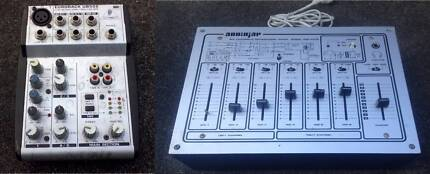 Behringer Eurorack UB502 mixer, AudioJap Microphone Mixer Amp 6ch