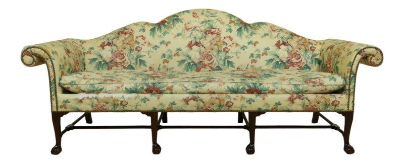 51973EC: KINDEL Irish Georgian Collection Clawfoot Mahogany Sofa