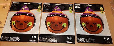 Halloween Kids Craft Kits Foam Stickers For Pumpkins 3 Sets 42pc Creatology 123P