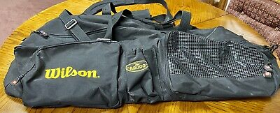 "Wilson ""The A2000"" Baseball/Softball Bat & Equipment Duffle Black Bag"