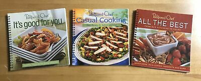 """3 """"Pampered Chef"""" Cookbooks All the Best Main, Casual Cooking, It's Good For (Best Cookbooks For Chefs)"""