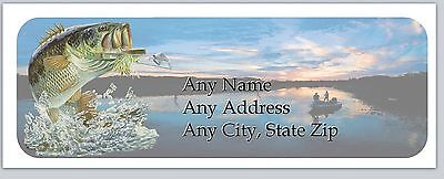 Personalized Address Labels Fishing Fish Bass Buy 3 get 1 free (ac 893)
