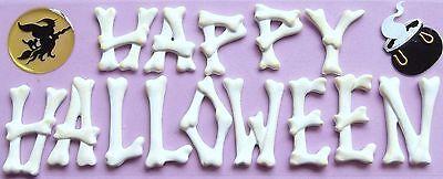 utique 3-D Harz Sticker - Hexe, Knochen - Happy Halloween (Holloween Hexe)