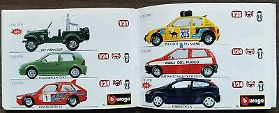 Petit catalogue de voiture de collection miniature bburago