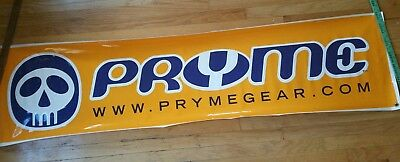 Vintage Pryme Protective Gear BMX Bicycle Bike Store Dealer Vinyl Sign (Pryme Bmx Bicycle)