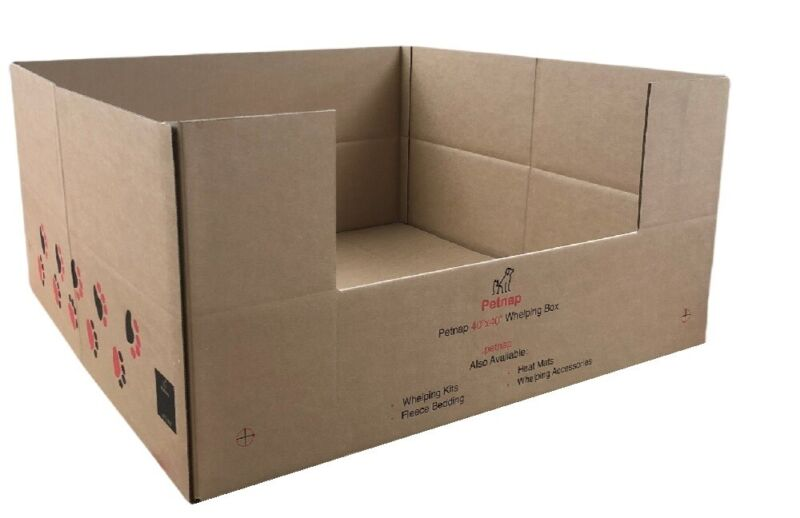"""Disposable Dog Puppy Whelping box welping boxes,ALL SIZES 24"""" 30"""" 36"""" 40"""" 48"""""""